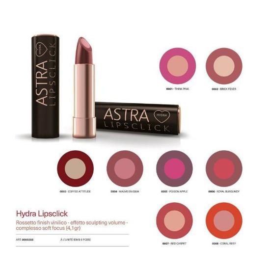 Cosmetica Labbra Rossetto Idratante Astra Make Up