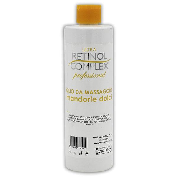 Massaggio Olio Mandorle dolci Retinol Complex
