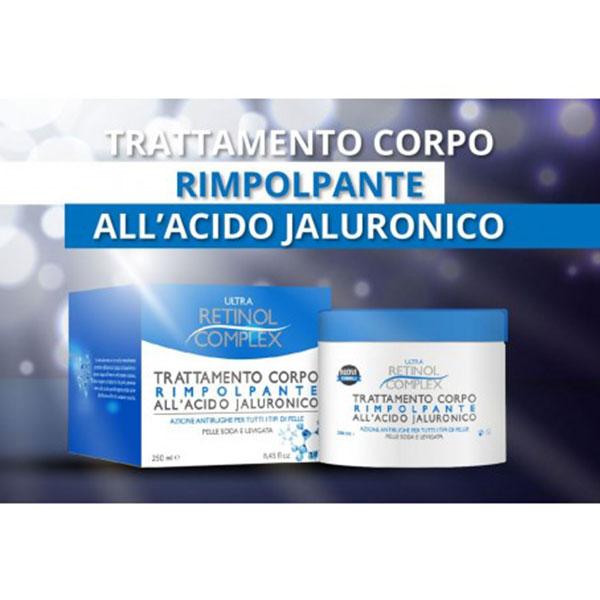 Crema corpo Rimpolpante Acido jaluronico Retinol Complex